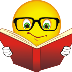 emoji reading book